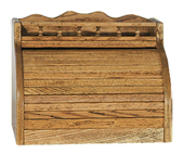 Rolltop Bread Box with Rail Top