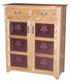"Traditional 2 Drawers & Copper Inserts 50"" Pie Safe"