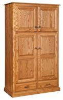 Traditional 4-Door Pantry Cabinet