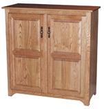 "Traditional Raised Panel Doors 43½"" Pie Safe"
