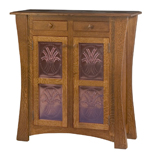 Arts & Crafts with Copper Panels Storage Cabinet