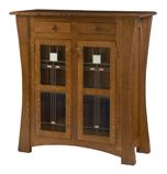 Arts & Crafts with Glass Panels Storage Cabinet