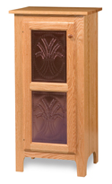 Classic Style 1-Door 2-Copper Panel Pie Safe
