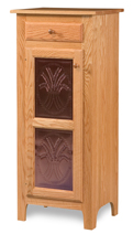 Classic Style 1-Door 2-Copper Panel with Drawer Pie Safe