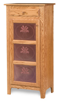 Classic Style 1-Door 3-Copper Panel with Drawer Pie Safe