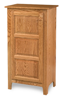 Classic Style 1-Door 3-Raised Panel Pie Safe