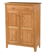 Classic Style 2-Door 2-Raised Panel with Drawer Pie Safe