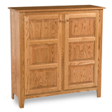 Classic Style 2-Door 3-Raised Panel Pie Safe