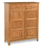 Classic Style 2-Door 3-Raised Panel with Drawer Pie Safe