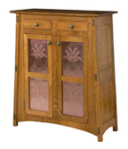 McCoy with Copper Panels Storage Cabinet