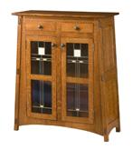 McCoy with Glass Panels Storage Cabinet