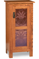 Mission Style 1-Door 2-Copper Panel Pie Safe