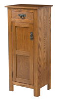 Mission Style 1-Door 2-Reverse Panel with Drawer Pie Safe