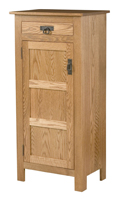 Mission Style 1-Door 3-Reverse Panel with Drawer Pie Safe