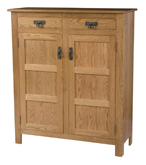 Mission Style 2-Door 3-Reverse Panel with Drawer Pie Safe