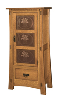 Modesto-1 with Copper Panels Storage Cabinet