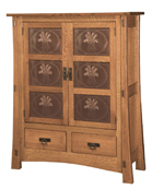 Modesto-2 with Copper Panels Storage Cabinet