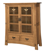 Modesto-2 with Glass Panels Storage Cabinet