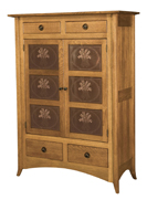 Shaker Hill-2 with Copper Panels Storage Cabinet