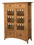 Shaker Hill-2 with Glass Panels Storage Cabinet