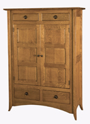 Shaker Hill-2 with Raised Panels Storage Cabinet