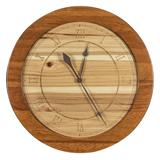 Hickory Round Clock