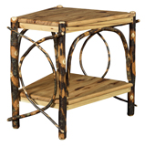 Hickory Wedge Shaped End Table