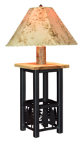 Ironwood Lamp with Lambskin Shade