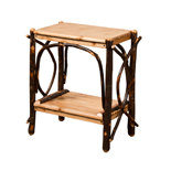 "24"" End Table with Solid Top & Slatted Shelves"