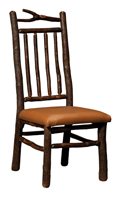 Branch Side Chair with Spindle Back and Solid Seat