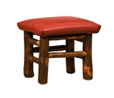 Child Footstool with Fabric Seat
