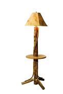 Floor Lamp w/Shelf & Lambskin Shade
