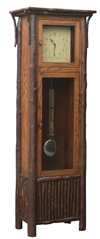 Old Country Grandfather Clock with Pendulum