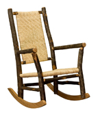 Grandpa Rocker with Caned  Seat & Back