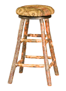 Hickory Bar Stool with Swivel Seat
