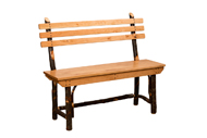 Hickory Bench with Back