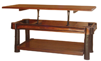 Hickory Coffee Table Solid Lift Top