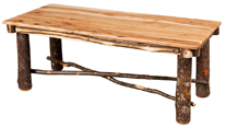 Hickory Coffee Table Solid Top