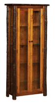 Hickory Curio Cabinet with Doors