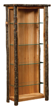 Hickory Curio Cabinet with Open Sides