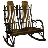 Bendwood Hickory Double Rocker