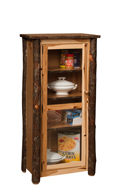 Hickory Jelly Cupboard with Glass Door