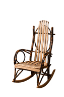 Bendwood Hickory Rocker with Live Edge Slats