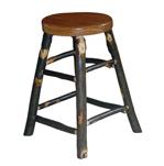 Hickory Stationary Bar Stool