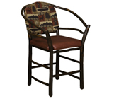 Hoop Bar Stool with Fabric Seat & Back
