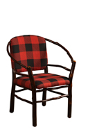Hoop Chair with Fabric Seat & Back