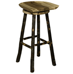 Saddle Bar Stool with Swivel Seat