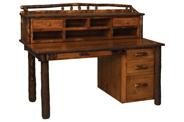 Secretary Desk with Desktop Organizer