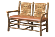 Settee with Fabric Seat & Back