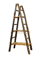 Showcase Ladder with 3 Solid Shelves